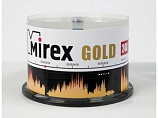 Диск CD-R Mirex 700 Mb, 24х, Gold, Cake Box (50), (50/300)