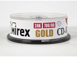 Диск CD-R Mirex 700 Mb, 24х, Gold, Cake Box (10), (10/300)