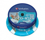 Диск CD-R Verbatim 700 Mb, 52x, Cake Box (25), DL+, Printable (25/200)