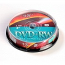 Диск DVD+RW VS 4.7 Gb, 4x, Cake Box (10), (10/200)