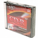 Диск CD-R VS 700 Mb, 52x, Slim Case (5), Ink Printable (5/200)